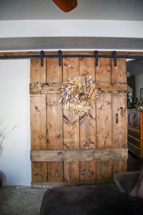 DIY Wide Rustic Barn Door