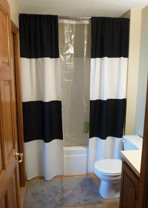 DIY Victory Shower Curtain