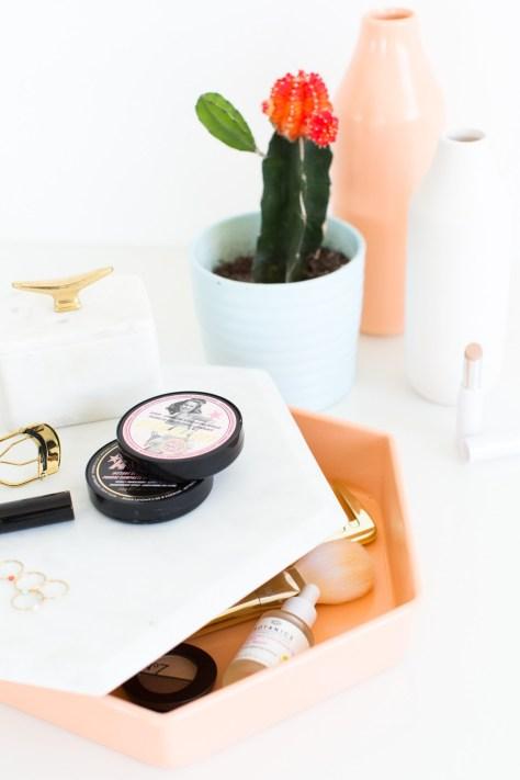 DIY Vanity Tray Storage