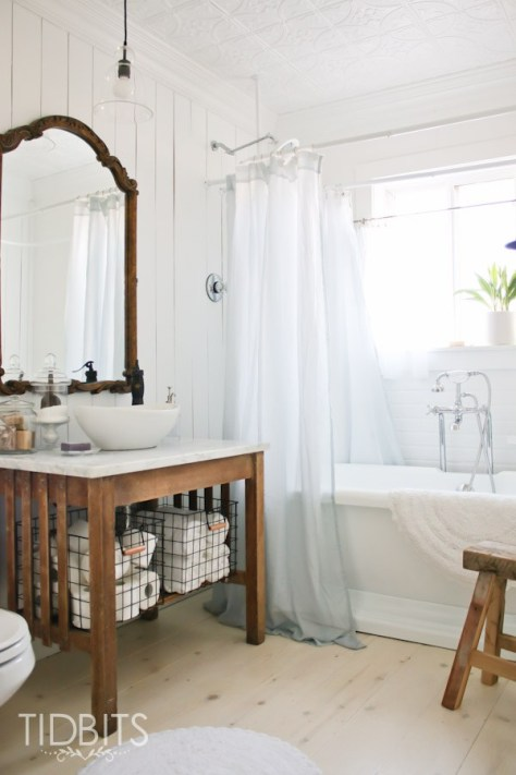 DIY Window Curtain To Shower Curtain