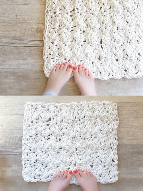 Crochet Bath Rug With Rop