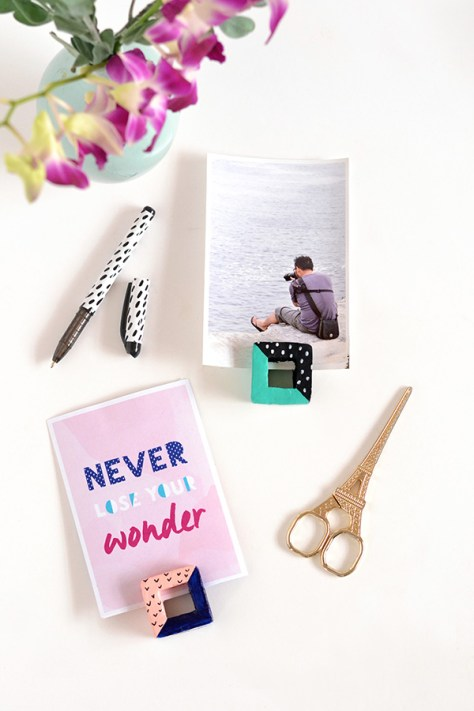 DIY Cut Square Photo Holders
