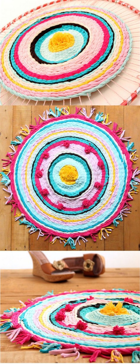 DIY Rag Rug From Old T-Shirts