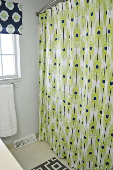 DIY Grommet Topped Shower Curtain