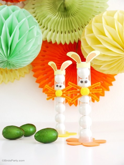 Easter Bunny Treat Tubes