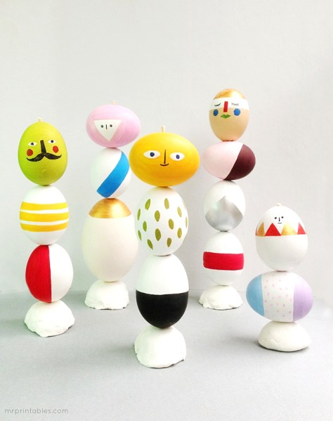 Mix Match Sculptures Easter Eggs