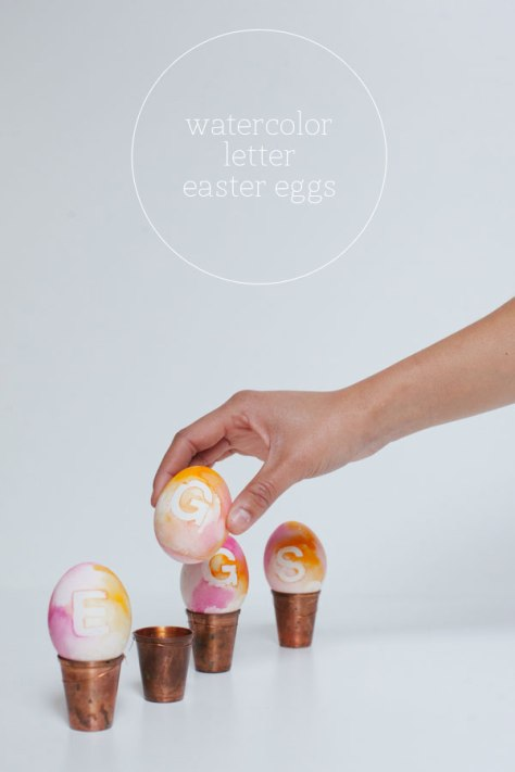 Watercolor Letter Easter Eggs