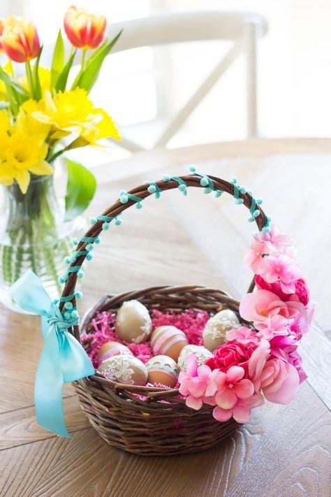 Floral Easter Baskets