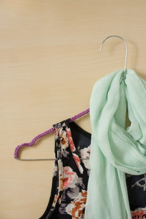 DIY Yarn Covered Clothes Hanger
