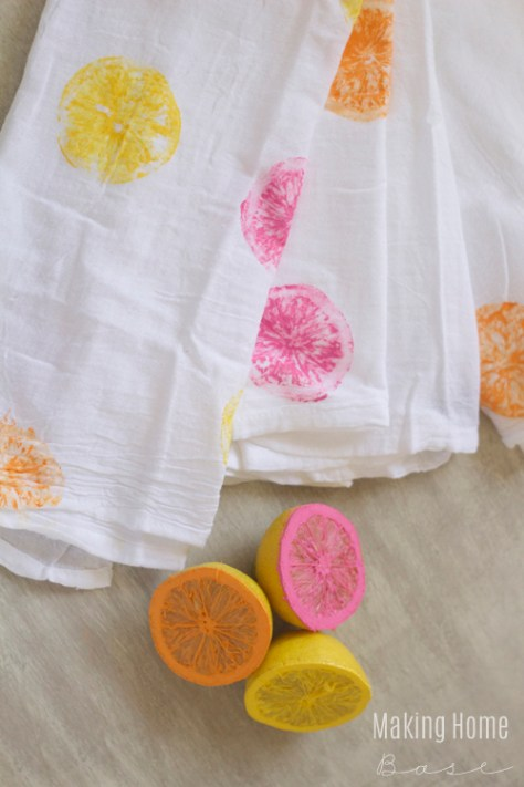 Painted Tea Towel