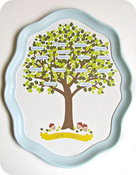 Family Tree Serving Tray