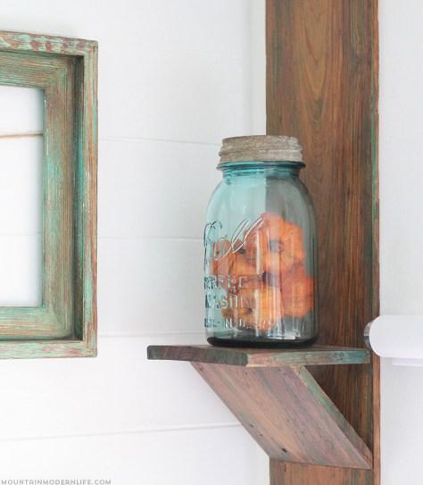 DIY Rustic Wall Sconce