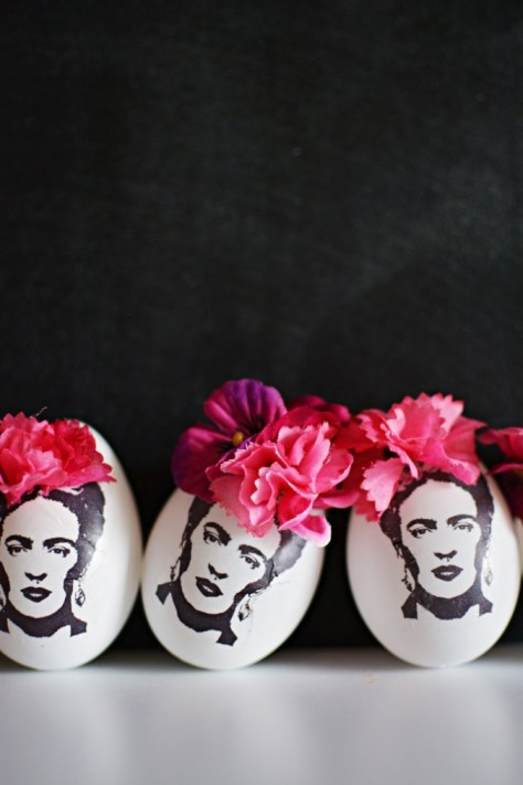 DIY Frida Kahlo Easter Eggs
