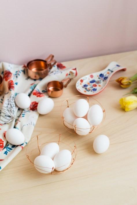 DIY Copper Wire Easter Egg Baskets