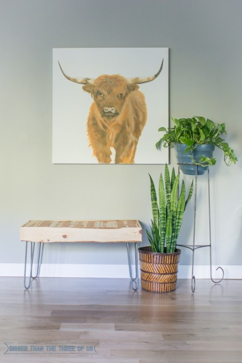 DIY Wood Bench With Hairpin Legs