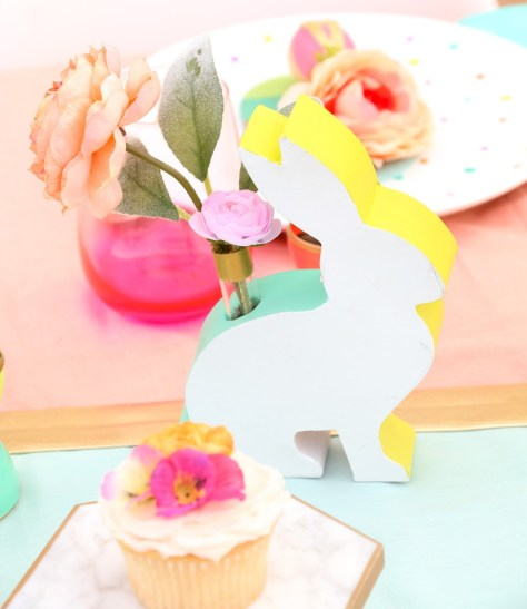 Color Blocked Bunny Vases