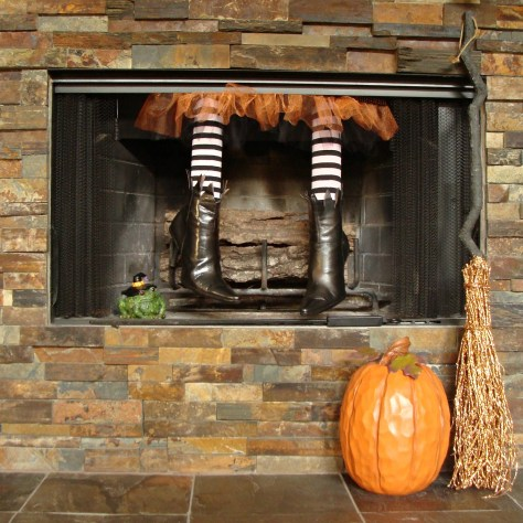 Fireplace Halloween Decorations