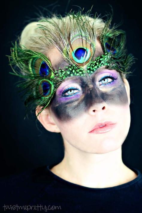 Peacock Halloween Makeup