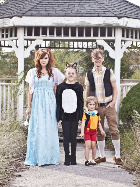 Pinocchio Themed Ffamily Halloween Costume