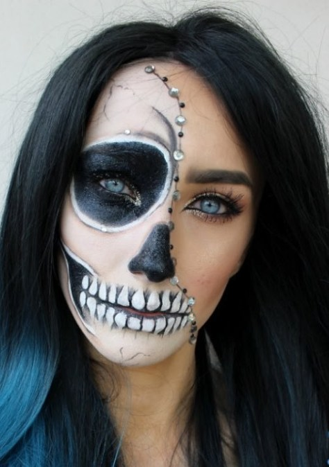 half face halloween makeup ideas everyone love to try a