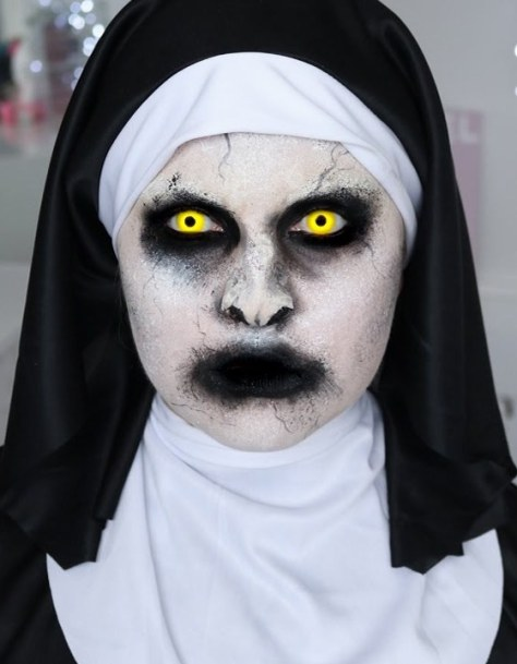 Scary Nun Halloween Makeup