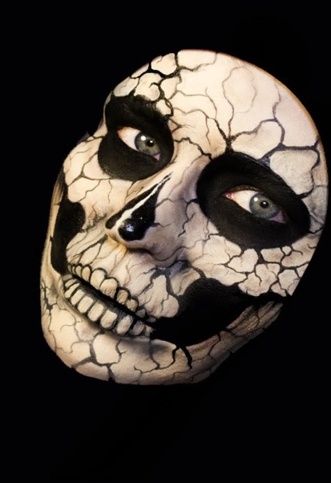 Skulls Doll Halloween Makeup