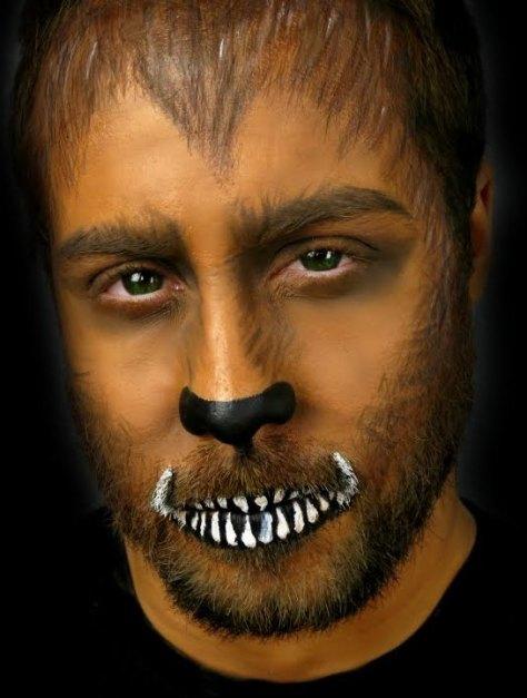 Werewolf Halloween Makeup For Men