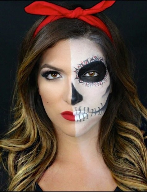 Half Face Halloween Makeup Ideas Everyone Love To Try - A DIY Projects