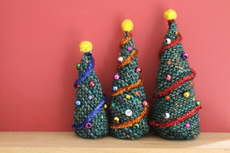 Knitted Christmas Trees