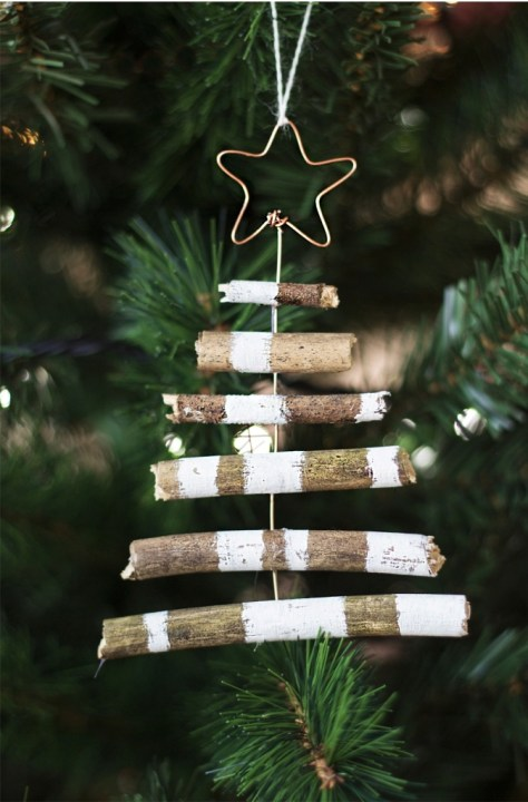 Rustic Tree Ornaments For Christmas Tree