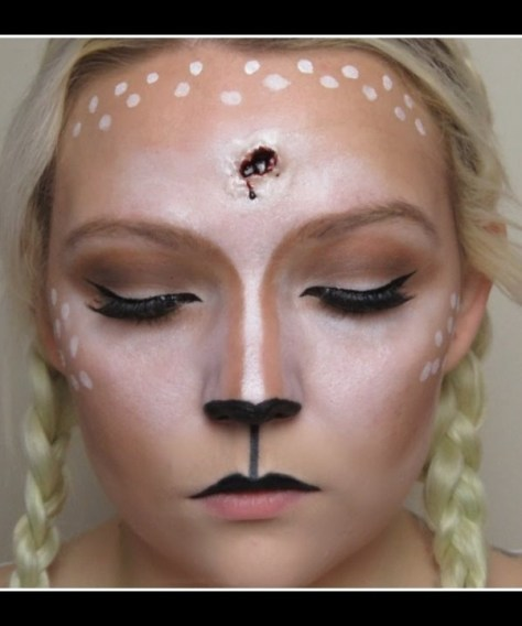 Gun Shot Deer Halloween Makeup
