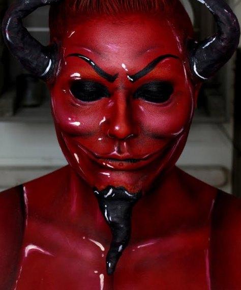 Scream Queens Red Devil Halloween Makeup