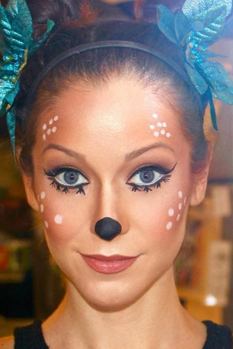 Disney Inspired Deer Halloween Makeup