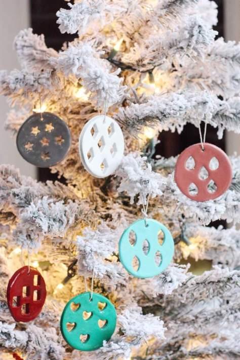Geometric Clay Ornaments