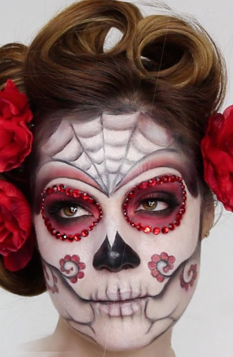 Easy Sugar Skull Halloween Makeup