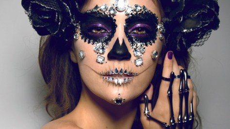 Diamond Sugar Skull Halloween Makeup