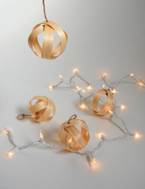 Wood Veneer Ornaments