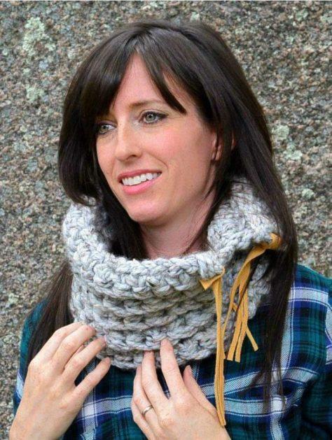 Chunky Rustic Crochet Cowl