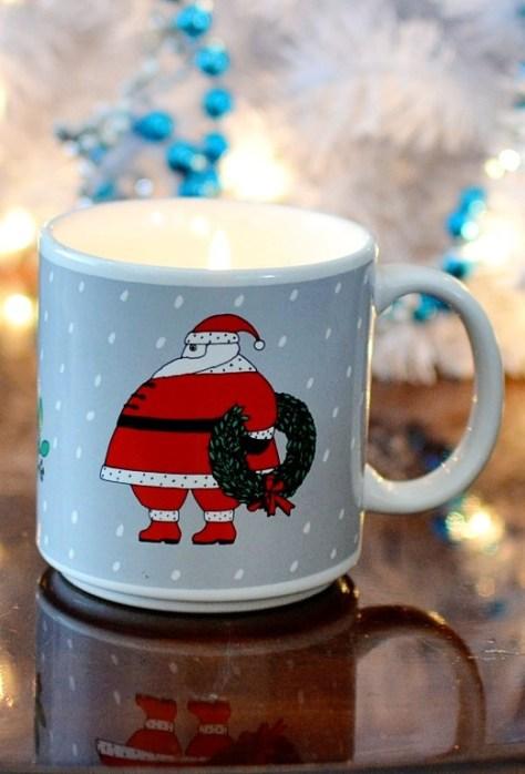 Thrifted Holiday Mug Candles