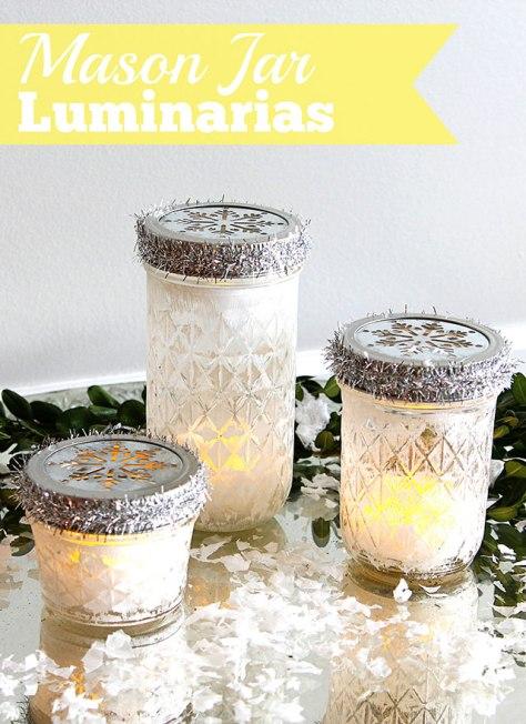 Mason Jar Christmas Luminarias