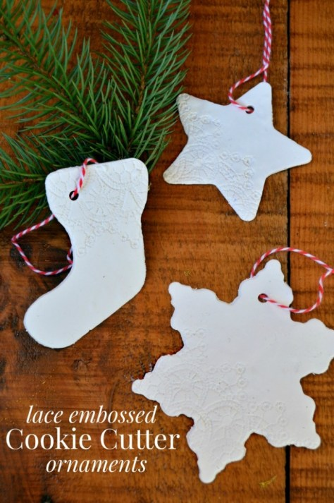 Lace Embossed Ornaments