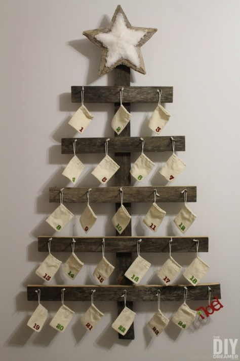 Rustic Wall Mounted Advent Calendar