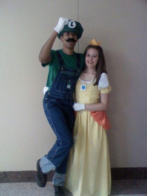 Luigi and Princess Daisy Halloween Costumes