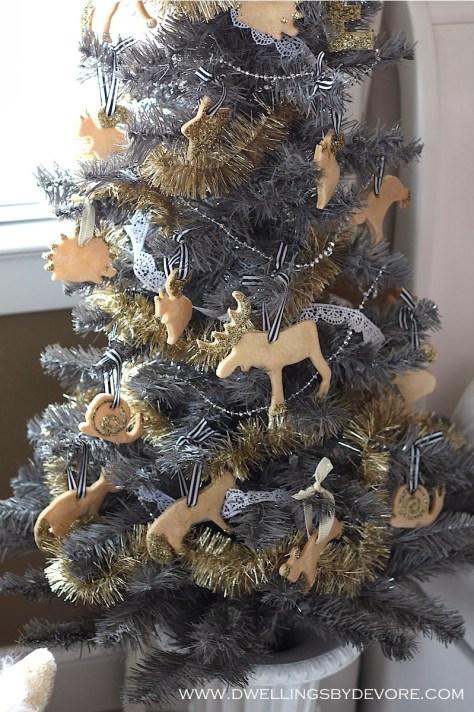 Christmas Tree With Salt Dough Ornaments