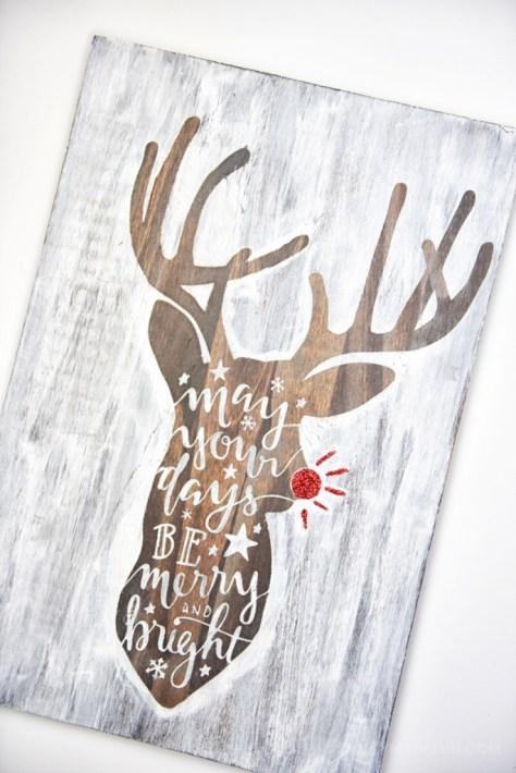 Hand Lettered Deer Sign