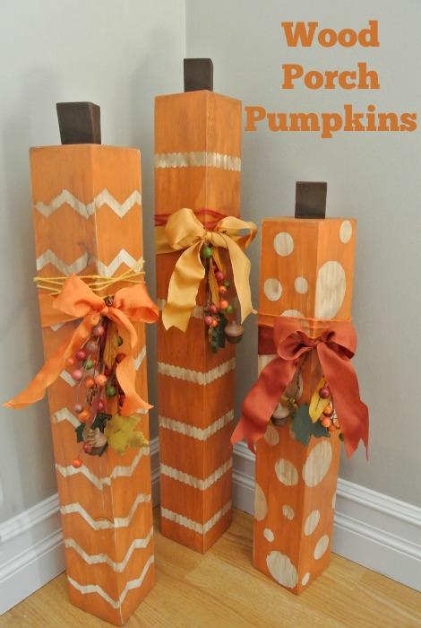 Wood Porch Pumpkins