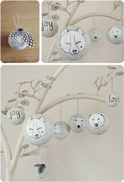 Animal Paper Ornaments