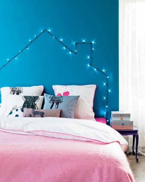 Blue Christmas Bedroom