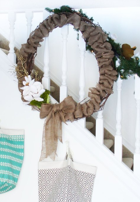 Burlap Wreath with Flower