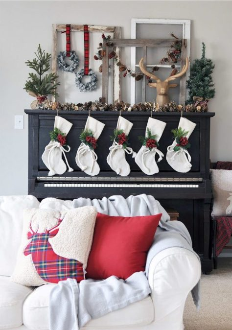Cozy and Rustic Christmas Mantel